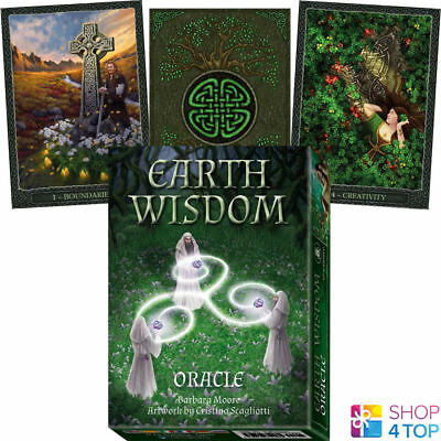 Earth Wisdom Oracle Cards Deck Barbara Moore Esoteric Telling Lo Scarabeo New