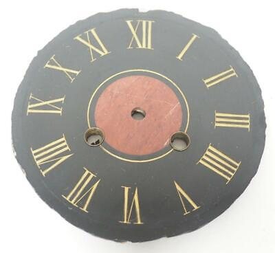 Antique French Black Slate 8 Day Mantle Clock Dial - Clock Spares
