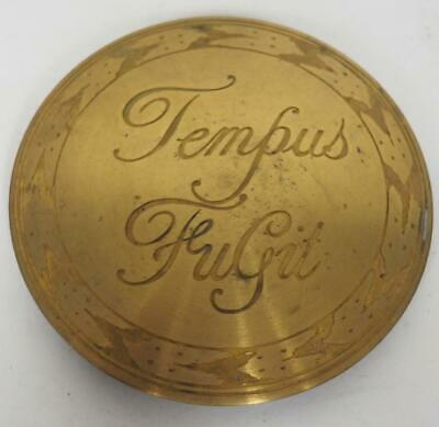 Tempus Fugit Bracket Mantel  Clock Boss Dial Convex Brass Engraved Boss 10cm
