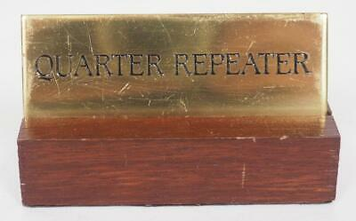 Shop Advertising Label Clock Brass Sign Carriage Clock Quarter Repeater Shop Tag