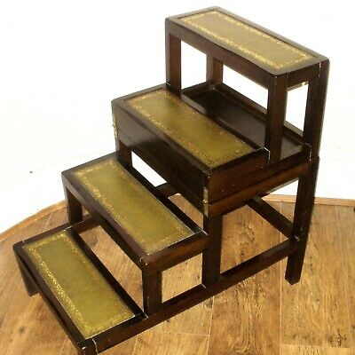 EARLY 20th CENTURY COFFEE TABLE / LIBRARY STEPS / LADDERS