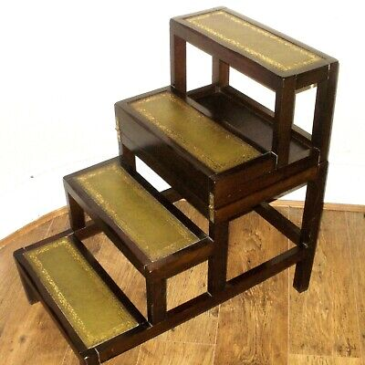 EARLY 20th CENTURY LIBRARY STEPS / LADDERS / COFFEE TABLE