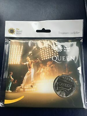 Queen band £5 Brilliant Uncirculated Coin LIMITED EDITION LIVE freddie mercury
