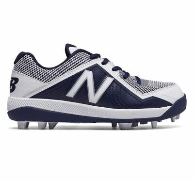 NIB New Balance Navy Kid's Low-Cut 4040v4 Rubber Molded Baseball Cleat Sz 3