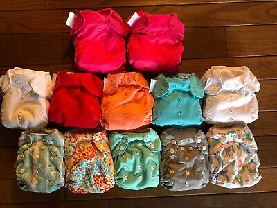 Stain Free Bumgenius Freetime And Thirsties All In One Reusable Cloth Diaper Lot