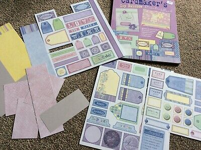 Icy Rainbow Paper Pack - Lilac Blue Yellow Green Sheets Few Tags & Artwork