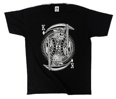 King of Trumps Skull undead poker playing card cool urban t shirt