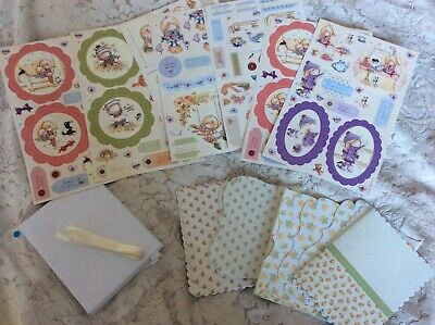 Gorgeous - Tilly Daydream Decoupage Card Kit - Printed Cards Envelopes - So Cute