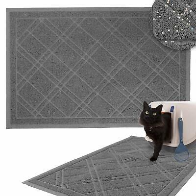 Non-Slip Padded Mesh Kitty Litter Mat Trapping Tray for Cats and Kittens