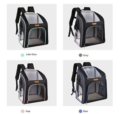 Foldable Dog Cat Backpack Puppy Carrier Pet Cage Lightweight Travel Sided Bag