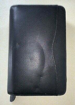 Day-Timer® 6-Ring Genuine Leather Organizer Planner With Zipper Good condition