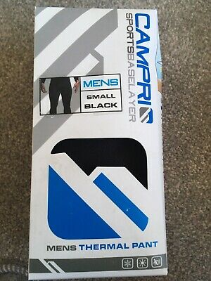 Brand New Campri Sports Men's Baselayer Black Thermal Pant Size UK  Medium