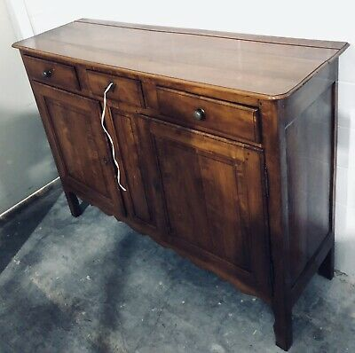 Antique French Pine Country Farmhouse 2 Door Buffet Sideboard C. Mid 19th Cent.