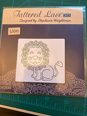 Tattered Lace Create And Craft Metal Craft Die ! New ! Lion