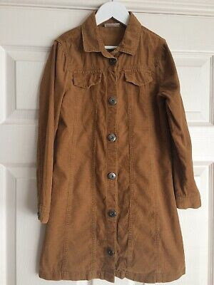 NEXT Girls Button Front Corduroy Dress Fit Girl Age 8 Years Perfect For Spring.