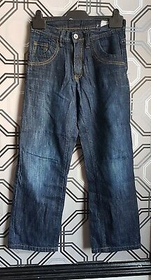 Rebel Boys Dark Blue Straight Leg Jeans Age 10 - 11 Years