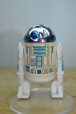 Vintage Star Wars R2-D2 1977 Solid Dome clicks First 12 **VERY NICE~LQQK!!**