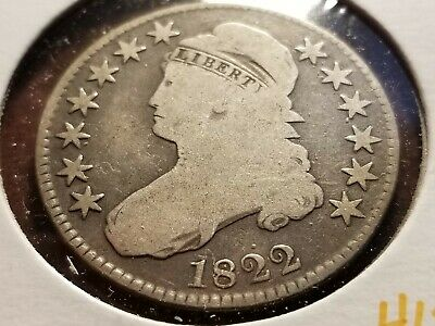 1822 Capped Bust Silver Half Dollar, full date, full liberty     INV12   H1227