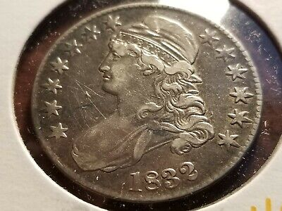 1832 Capped Bust Silver Half Dollar, full date, full liberty     INV12   H1231