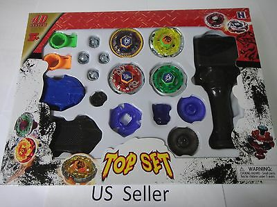 4D Launcher Grip Beyblade Set Metal Master Fusion Top Rapidity Fight set #5 USA