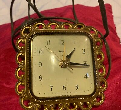 Vintage Syroco ELECTRIC Wall/mantel Clock HOLLYWOOD GLAM DECOR WORKS