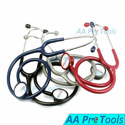 Professional Cardiology Stethoscope BLACK, BLUE, GRAY, RED Pick Up Your Color