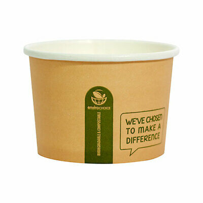 8oz & 16oz Biodegradable Container Cup BetaKraft Disposable Hot Food Soup
