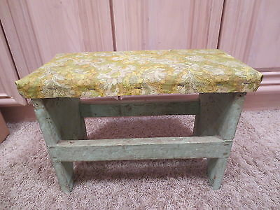 Vintage children's wooden toy stool or milking stool step stool miniature bench
