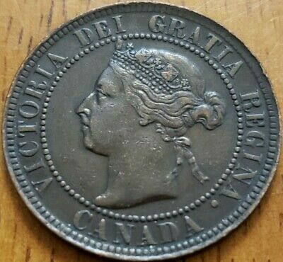 Canada 1897 One Cent VF  Check It Out!!  KM# 7  #AA215-6