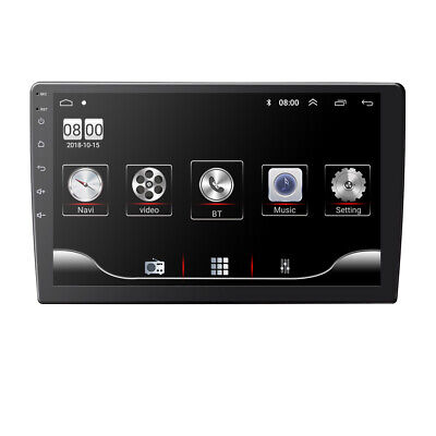 FHD Double 2DIN Android 9.0 10in Car Stereo MP5 GPS Navi Bluetooth WiFi FM Radio