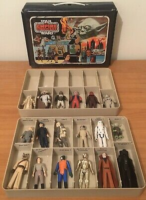 Vintage STAR WARS Lot: ESB YODA Carry Case & 18 Figures Various Conditions 77-84