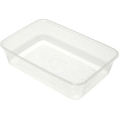 Rectangular 500ml 650ml 1000ml Plastic Disposable Takeaway Food Containers