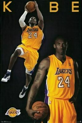 "2 Pictures Collage KOBE BRYANT Poster Print Los Angeles NBA Sports 24""x36"" NEW"
