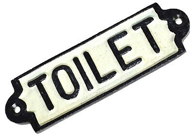 Cast Iron Toilet Sign for Pubs Bars Restaurants Offices Customers