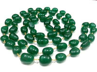 3-10 Feet Green Quartz Nuggets 11-14mm Beads, Rosary Beaded Chain, Gold Plated