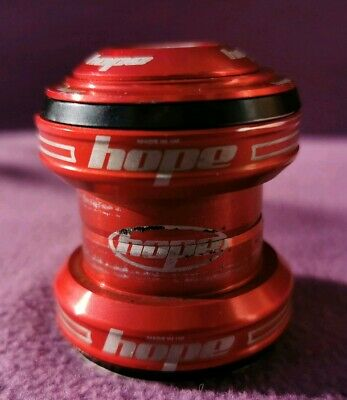 "VGC Red Hope external headset 1 1/8"" EC34 cups with top cap and head doctor"