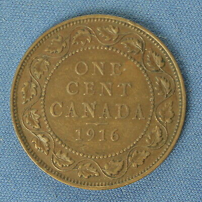 Canada 1916 Large Penny ( Estimated Grade Canada F to VF)   (Cleaned)