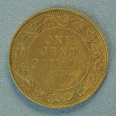 Canada 1917 Large Penny ( Estimated Grade Canada F to VF)   (Cleaned)