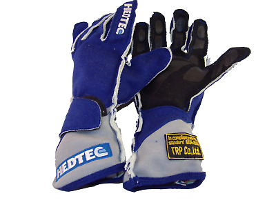TRP/HEDTEC Ultra High Quality FIA 8856-2000 NOMEX Race Gloves Blue SALE PRICE