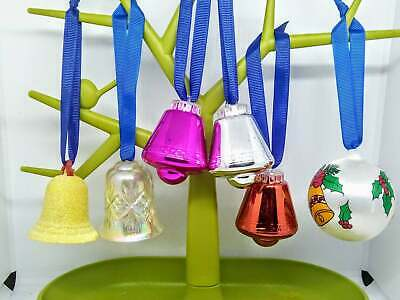 6 1980s Vintage bell baubles bell ornaments Christmas tree decorations retro