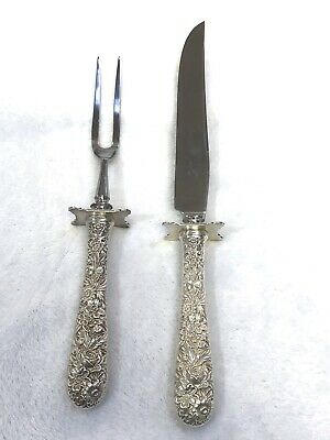 S. Kirk & Son Repousse Sterling Silver Xl Carving Set - Excellent Condition