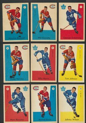 1959-60 Parkhurst NHL Hockey Cards  U-Pick Choose Single Cards to Complete Set