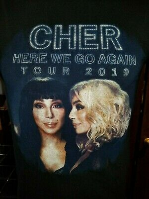 Cher Here We Go Again Tour 2019 black small t-shirt, Singer/songwriter/actress