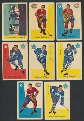 1959-60 Parkhurst NHL Hockey Cards  U-Pick Single Cards to Complete Your Set