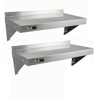 2 x Displaypro Stainless Steel Shelf