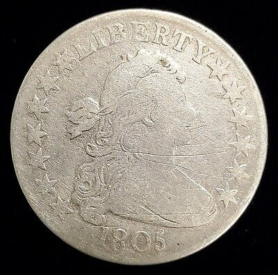 1805 Draped Bust Half Dollar 50c Coin with VG Details