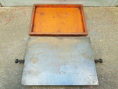 """Engineers Cast Iron Surface Plate - 14x10"""" Lathe Mill Model Making"""