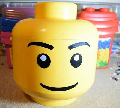 Lego Storage Head Box Large Medium Small Select Your Box and Size