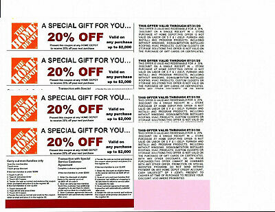 ***4***20% OFF HOME DEPOT Competitors Coupon to use at Lowe's exp *** 7/31/20