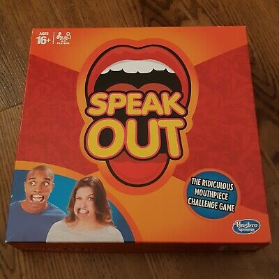 Speak Out Board Game Family & Friends Fun Hasbro New mouth Pieces
